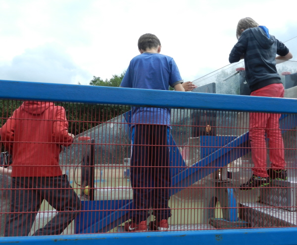Working together at Snibston Waterplay