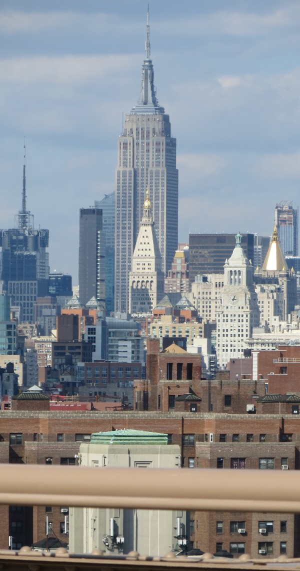 The Empire State Building from Brooklyn Bridge