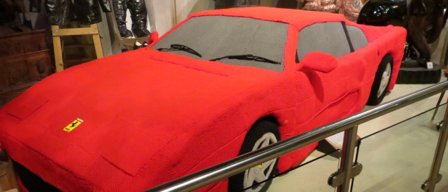 Knitted Ferrari at Ripley's Belive It or Not!