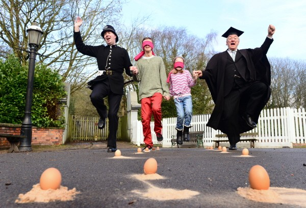 Egg dancing at blists hill ironbridge