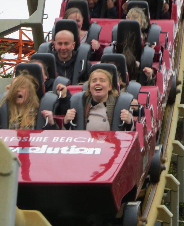 Revolution coaster at Blackpool Pleasure Beach