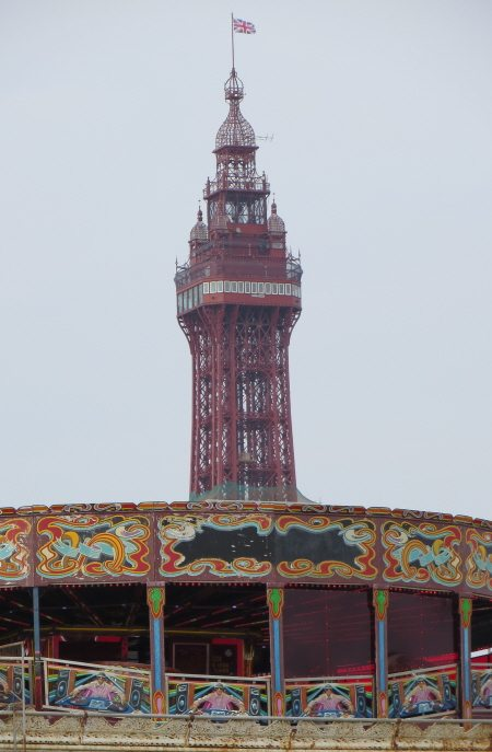 Blackpool Tower & fairground rides