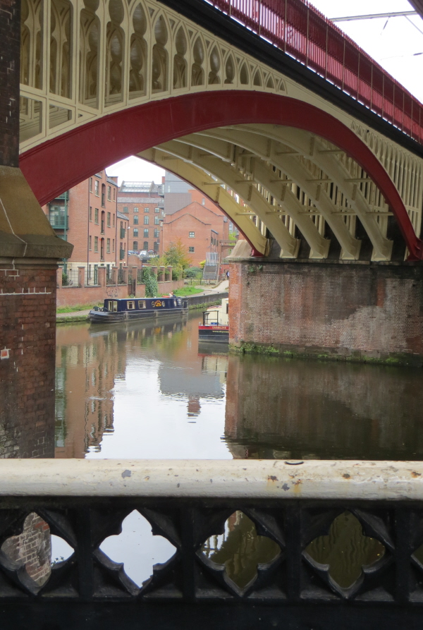 castlefield bridge and water