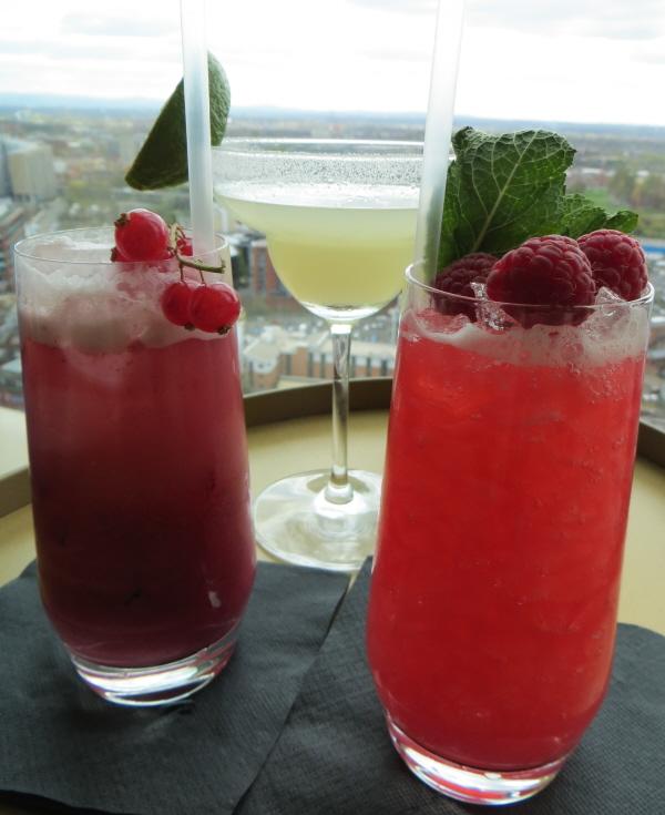 cocktails at cloud 23 hilton hotel