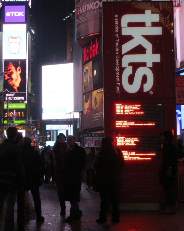 Cheap tickets for Broadway; tkts booth