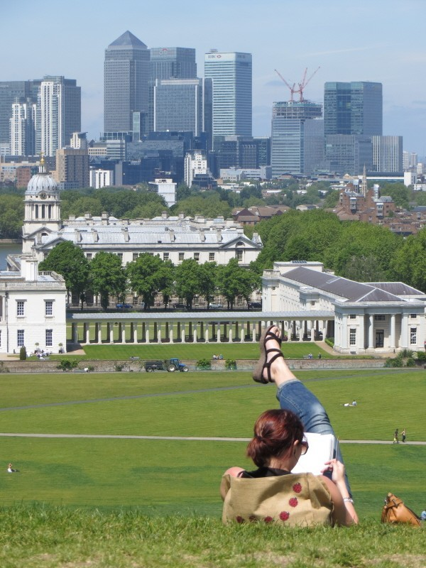 View of the city of London from the Royal Observatory