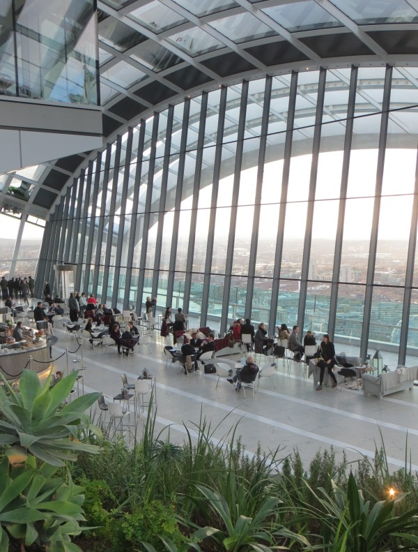 the view from the Sky Garden bar