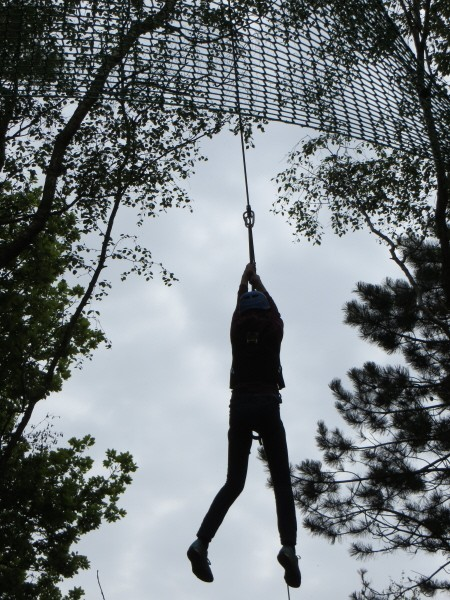 Alton Towers Zip Wire High Ropes Course