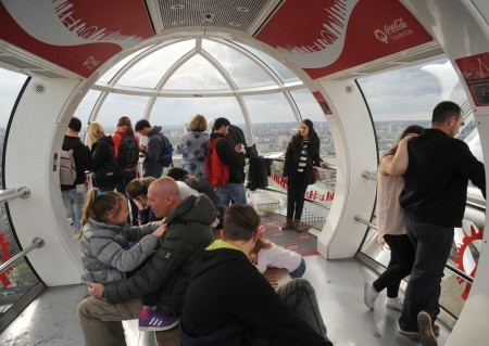 Interior of a London Eye capsule