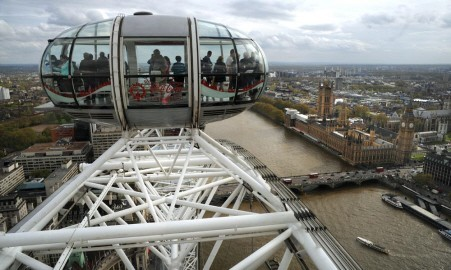 Views from the London Eye, (photo; Phil Loach)
