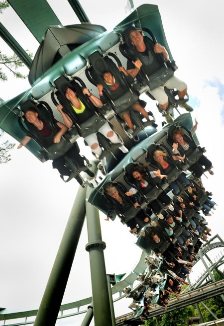 Air coaster at Alton Towers