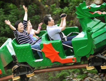 The dragon coaster at Legoland Windsor