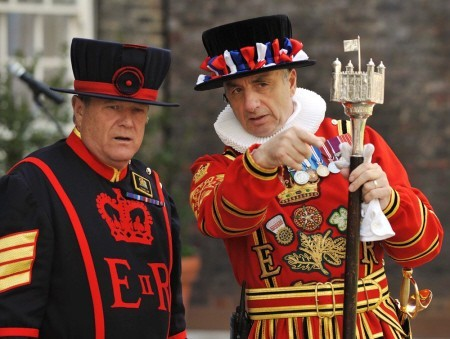 Beafeaters at the Tower of London