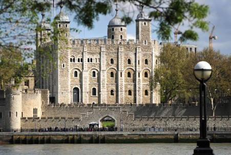 the tower of London from the River Thames