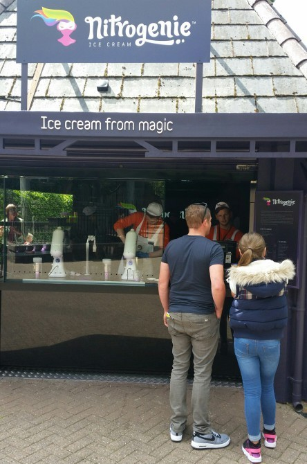 Ice Cream from Liquid Nitrogen at Alton Towers