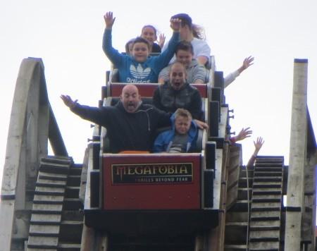 wooden coaster ride at Oakwood Theme Park