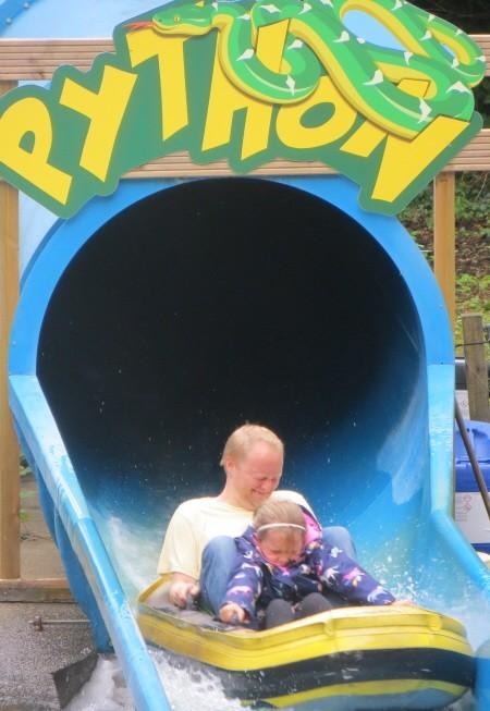 Water ride at oakwood Theme Park