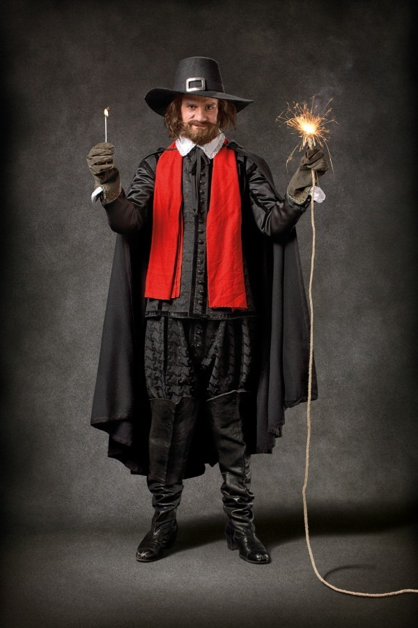Costumed actors like guy fawkes at the London Dungeon