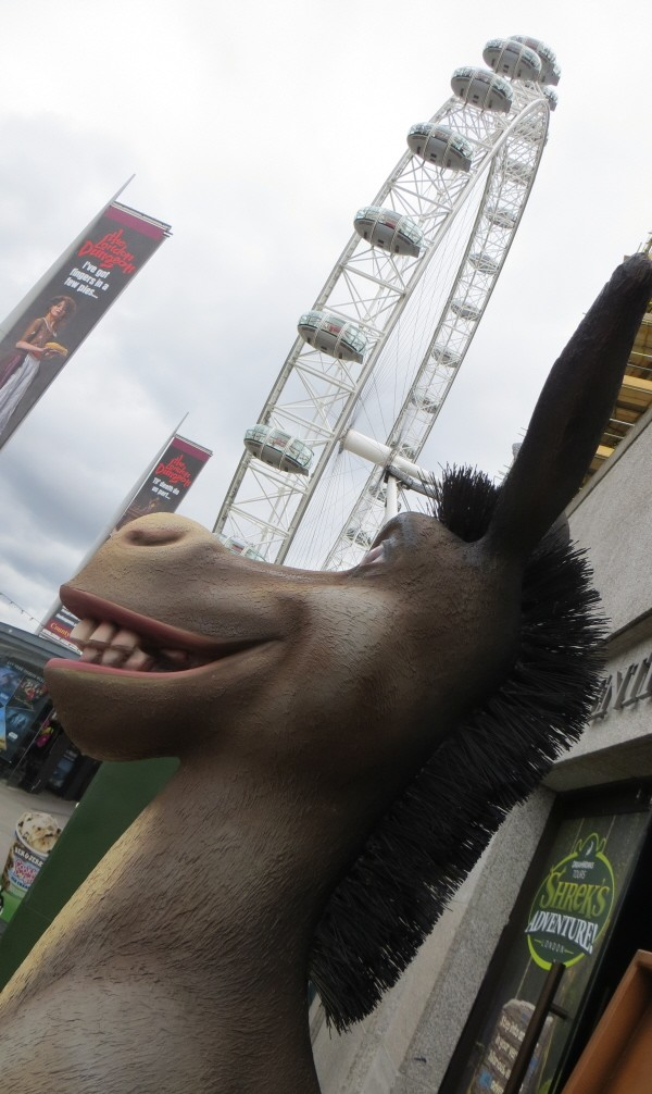 outside shot of Shrek's Adventure on the south bank in London