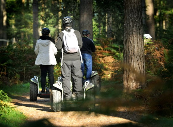 Go explore on a forest segway
