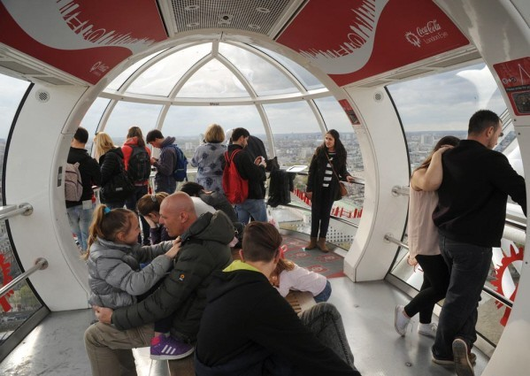 Inside a London Eye capsule