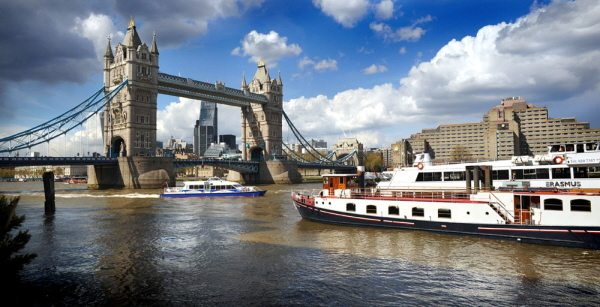 tower bridge in London on the River Thames