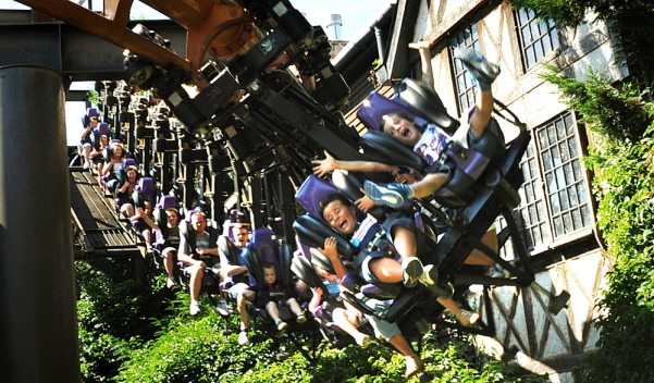 vampire coaster at Chessington World of Adventures