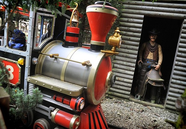 train ride at Gulliver's Theme Park