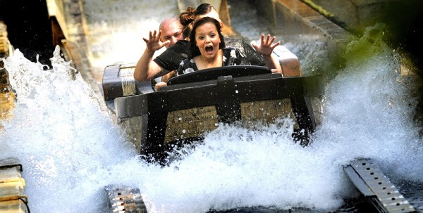 water ride at Chessington World of Adventures