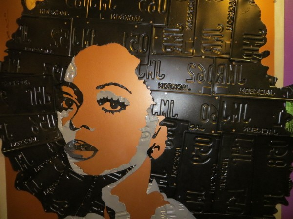 Diana Ross made out of licence plates at Ripley's London