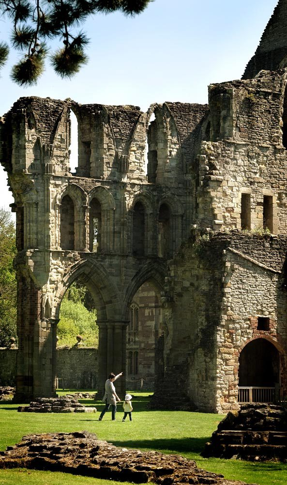 Wenlock Priory in Shropshire english heritage