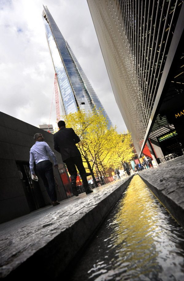 the shard in london by London Bridge
