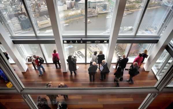 Lower viewing deck from The Shard