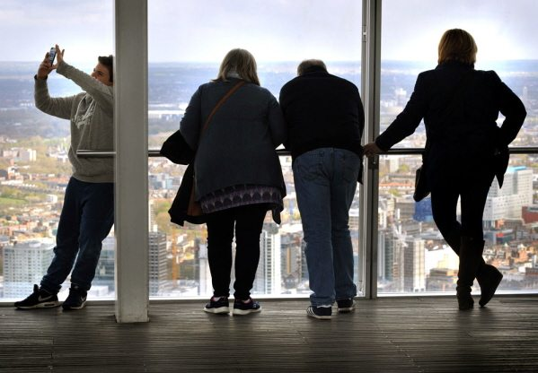The viewing deck of the View from The Shard