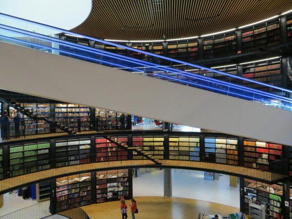 Birmingham Library book rotunda