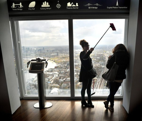 the viewing terrace at the view from the shard