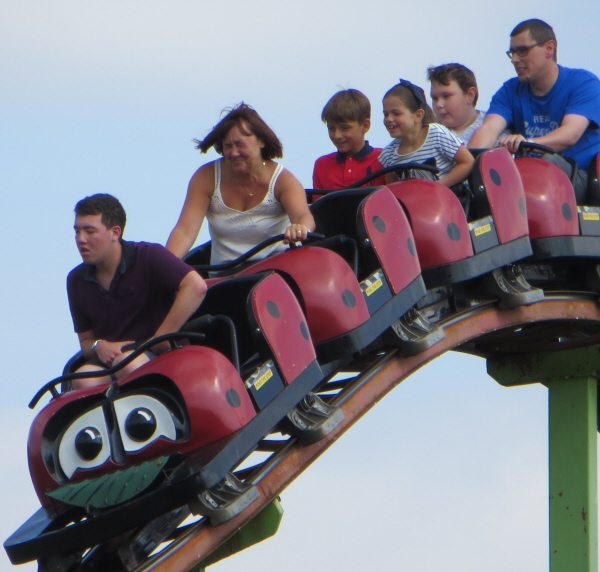 rollercoaster at Lightwater Theme Park