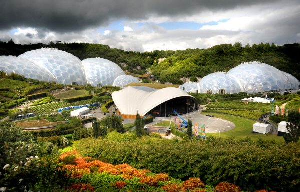 the eden project site in Cornwall