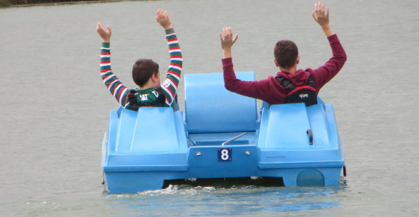 boswater water park pedalo on water