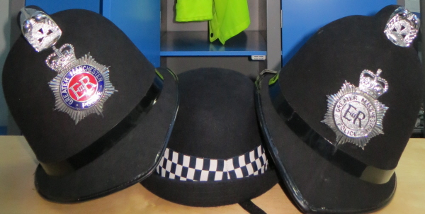 dressing up outfits at the police museum in manchester