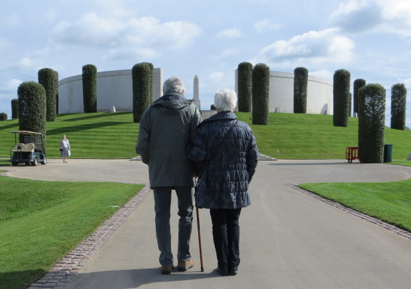 standing outside the National Memorial Arboretum