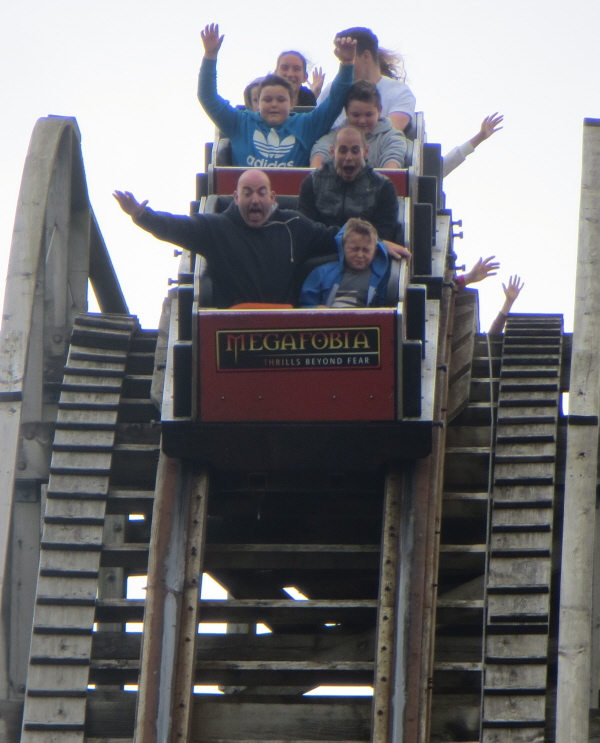 wooden rollercoaster at oakwood theme park