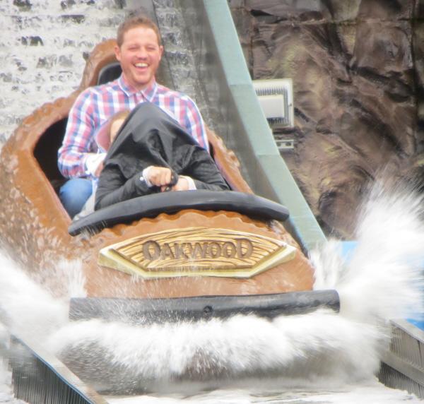 log flume at Oakwood theme park